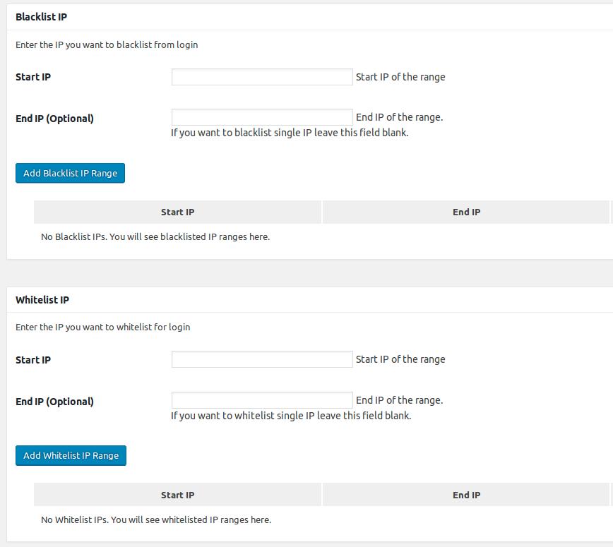 whitelista i blacklista adresów IP logujących się do wordpressa