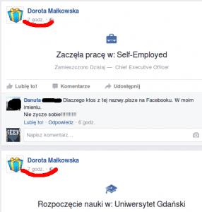 fałszywe konto na facebooku