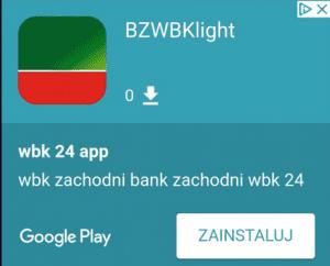 fałszywa aplikacja mobilna bzwb