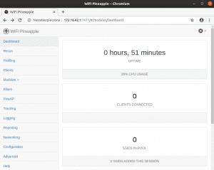 wifi pineapple - interfejs webowy