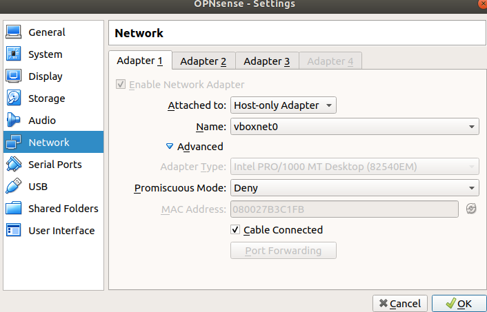 Instalacja firewalla OPNsense - krok 8.