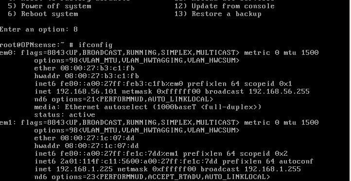 Instalacja firewalla OPNsense - krok 7.