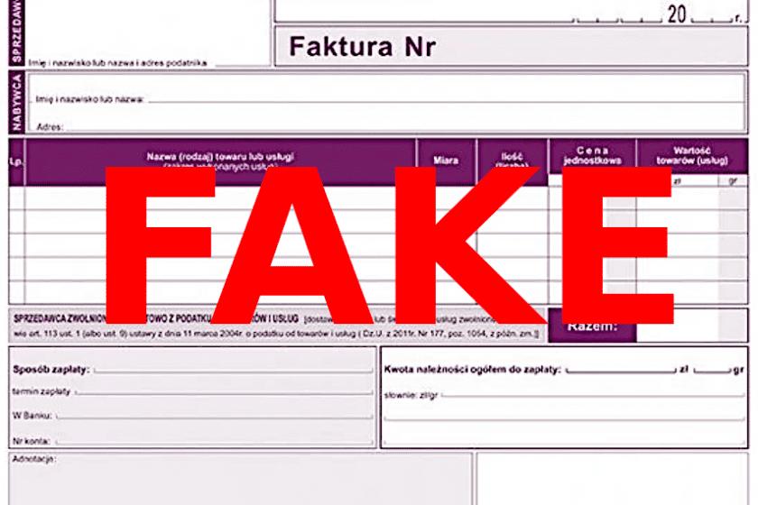 fałszywa faktura