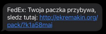 SMS podszywający się pod FedEx